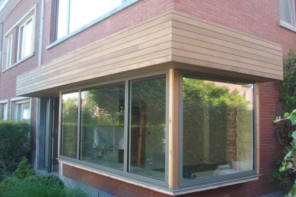 Omnisolutions - Aluminium raam afgewerkt met hout
